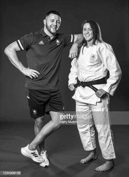 Dublin , Ireland - 14 July 2021; Judoka and brother and sister Ben and Megan Fletcher during a Tokyo 2020 Team Ireland Announcement for Judo at the...