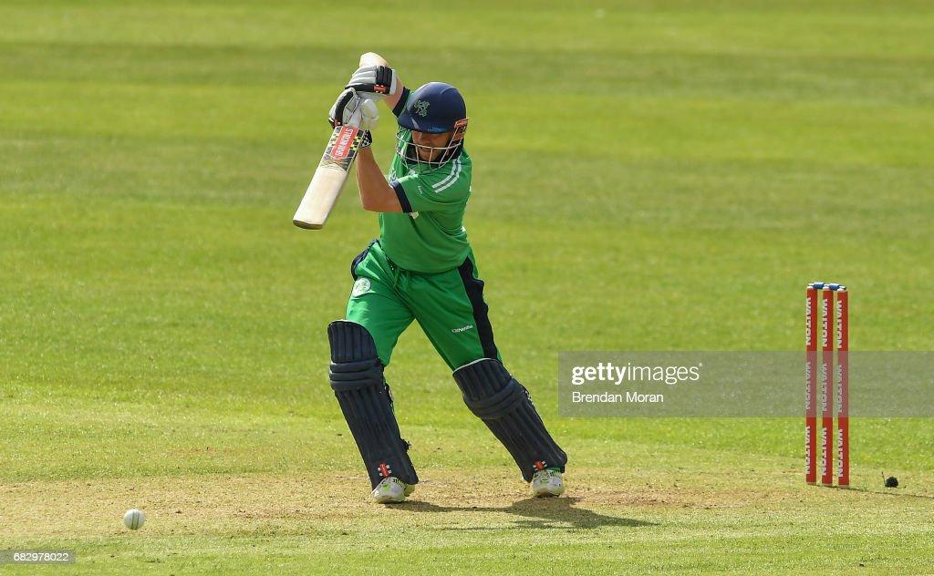 Dublin , Ireland - 14 May 2017; Niall O'Brien of Ireland during the One Day International match between Ireland and New Zealand at Malahide Cricket Club in Dublin.