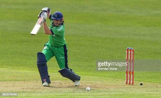 Dublin Ireland 14 May 2017 Niall O'Brien of Ireland during the One Day International match between Ireland and New Zealand at Malahide Cricket Club...
