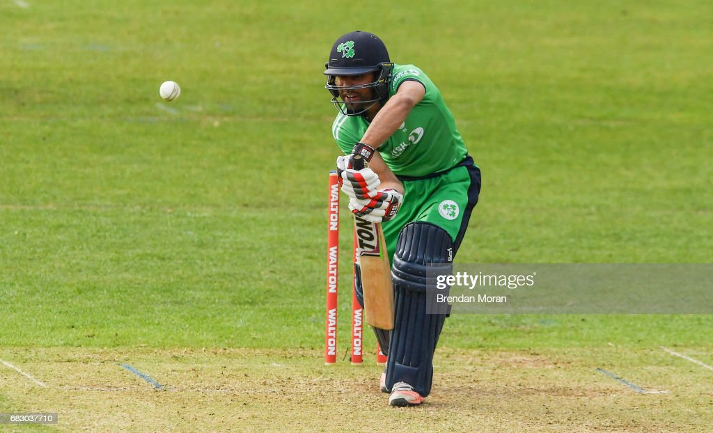 Dublin , Ireland - 14 May 2017; Simi Singh of Ireland during the One Day International match between Ireland and New Zealand at Malahide Cricket Club in Dublin.