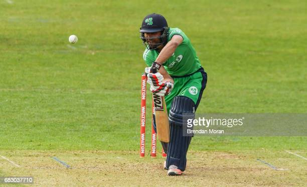Dublin Ireland 14 May 2017 Simi Singh of Ireland during the One Day International match between Ireland and New Zealand at Malahide Cricket Club in...