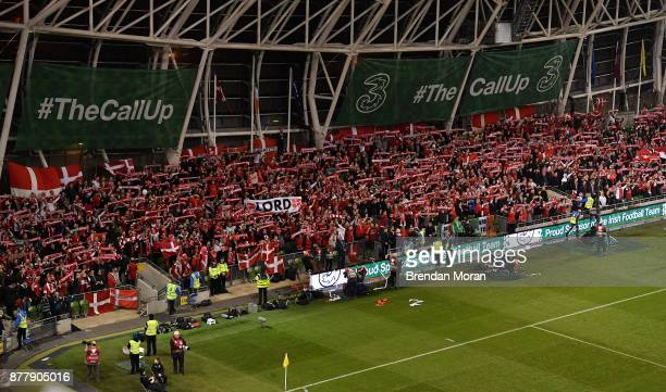 Dublin Ireland 14 November 2017 Danish fans in attendance during the FIFA 2018 World Cup Qualifier Playoff 2nd leg match between Republic of Ireland...