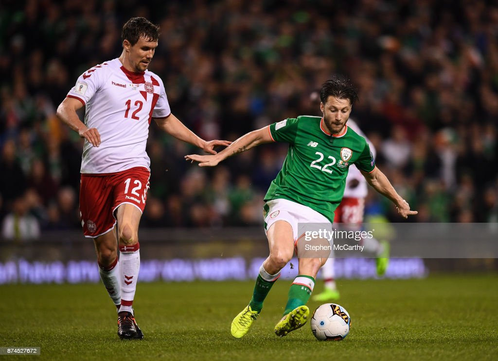 Republic of Ireland v Denmark - FIFA 2018 World Cup Qualifier Play-off 2nd leg : News Photo