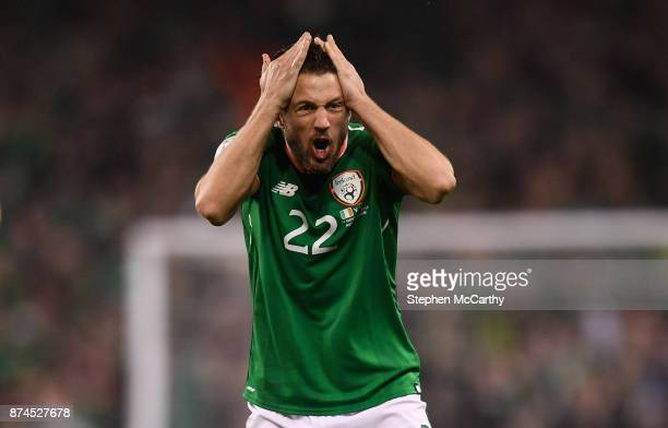 Dublin Ireland 14 November 2017 Harry Arter of Republic of Ireland during the FIFA 2018 World Cup Qualifier Playoff 2nd leg match between Republic of...