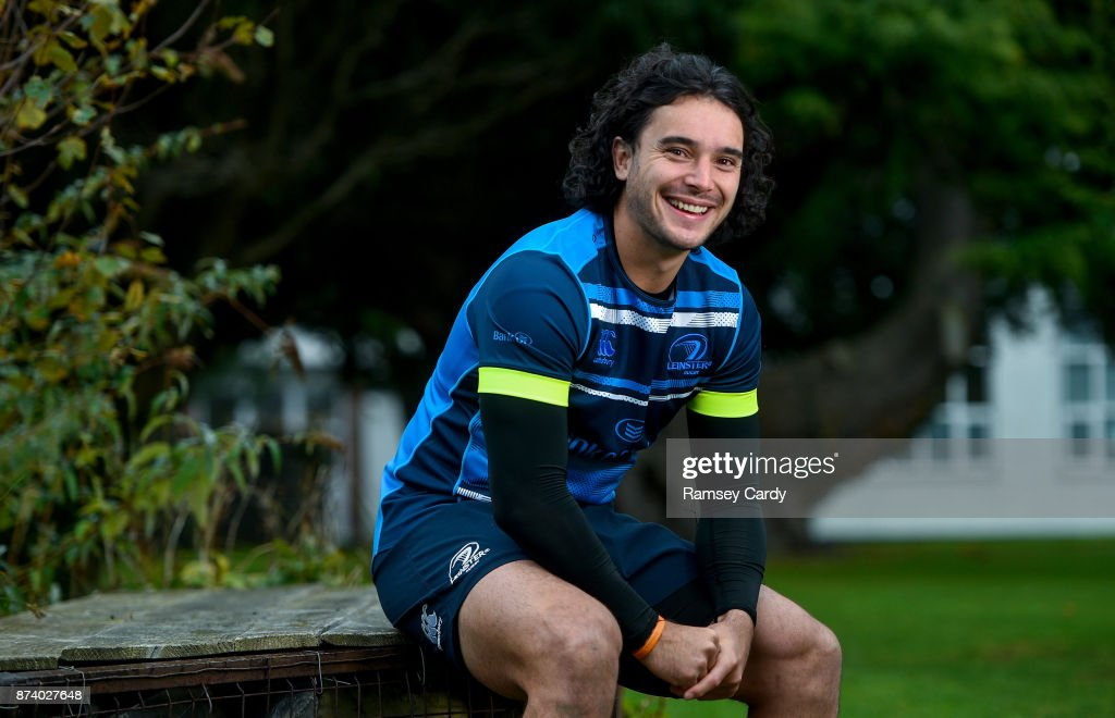 Dublin , Ireland - 14 November 2017; New Leinster Rugby signing James Lowe pictured on his arrival at the province from Super Rugby side the Chiefs. Lowe played in 16 Super Rugby matches this year, scoring 11 tries.