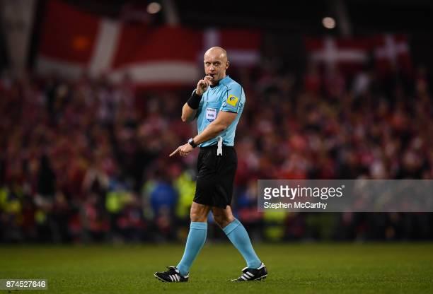 Dublin , Ireland - 14 November 2017; Referee Szymon Marciniak during the FIFA 2018 World Cup Qualifier Play-off 2nd leg match between Republic of...