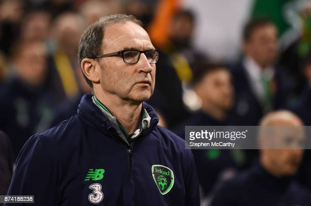 Dublin Ireland 14 November 2017 Republic of Ireland manager Martin O'Neill prior to the FIFA 2018 World Cup Qualifier Playoff 2nd leg match between...