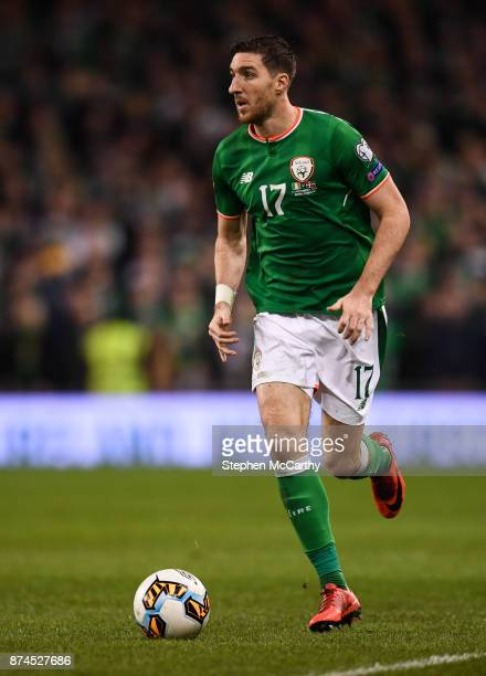 Dublin Ireland 14 November 2017 Stephen Ward of Republic of Ireland during the FIFA 2018 World Cup Qualifier Playoff 2nd leg match between Republic...