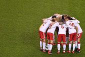 dublin ireland denmark team gather huddle