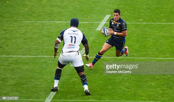 Dublin Ireland 14 October 2017 Noel Reid of Leinster in action against Nemani Nadolo of Montpellier during the European Rugby Champions Cup Pool 3...