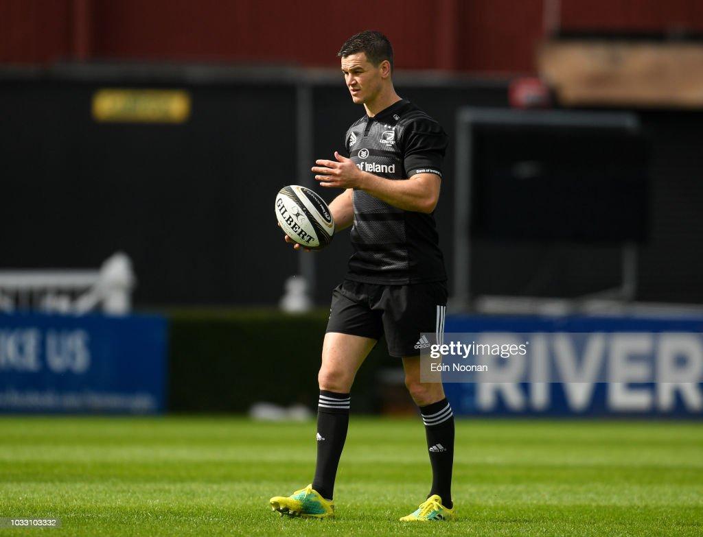 Dublin , Ireland - 14 September 2018; Jonathan Sexton during the Leinster captains run at the RDS Arena in Dublin.