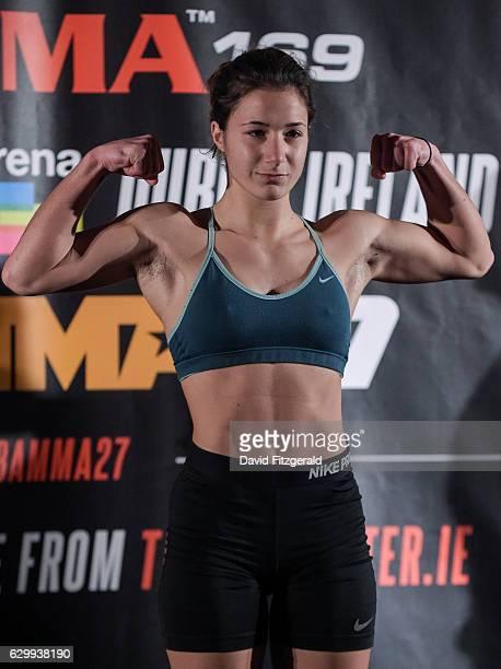 Dublin Ireland 15 December 2016 Elina Kallionidou during the Bellator 169 BAMMA 27 Weigh Ins at 3 Arena in Dublin