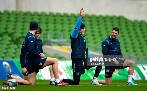 Dublin Ireland 15 December 2017 Jonathan Sexton during the Leinster captain's run at the Aviva Stadium in Dublin