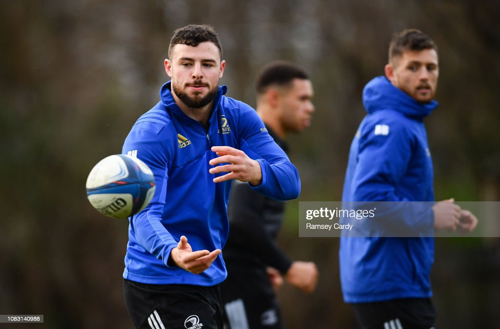 Leinster Rugby Press Conference and Squad Training : News Photo