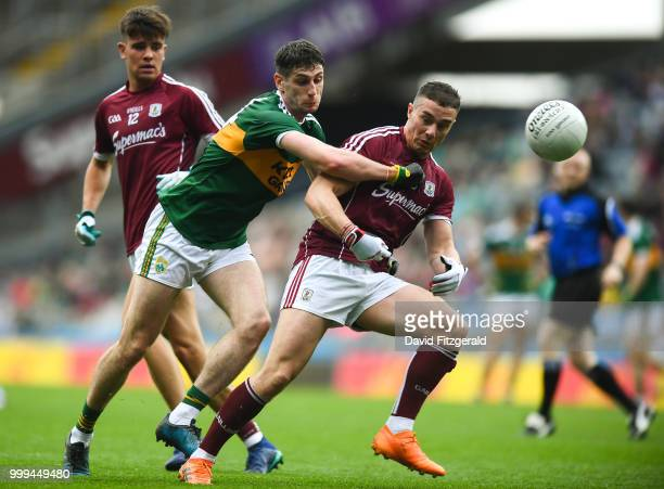Dublin Ireland 15 July 2018 Eamonn Brannigan of Galway in action against Paul Geaney of Kerry during the GAA Football AllIreland Senior Championship...