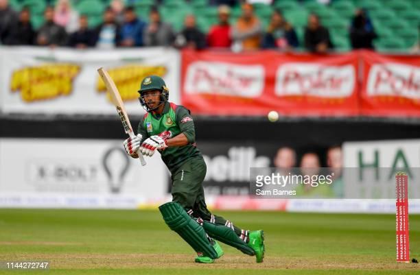 Dublin Ireland 15 May 2019 Mosaddek Hossain of Bangladesh during the OneDay International TriSeries Final match between West Indies and Bangladesh at...