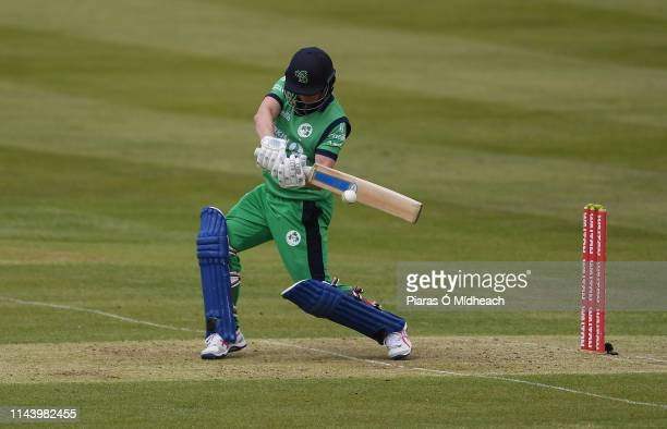 Dublin Ireland 15 May 2019 William Porterfield of Ireland plays a shot during the One Day International match between Ireland and Bangladesh at...