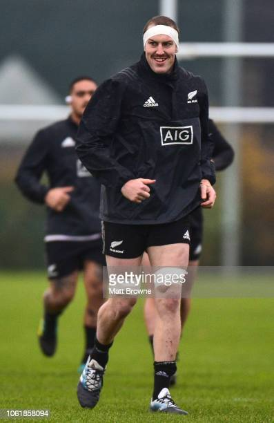 Dublin Ireland 15 November 2018 Brodie Retallick during a New Zealand Rugby squad training session at Abbotstown in Dublin