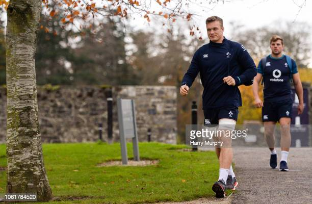 Dublin Ireland 15 November 2018 Josh van der Flier arrives at Ireland Rugby squad training at Carton House in Maynooth Co Kildare
