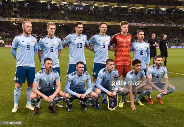 Dublin Ireland 15 November 2018 The Northern Ireland team prior to the International Friendly match between Republic of Ireland and Northern Ireland...