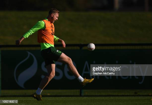 Dublin Ireland 15 October 2018 Aiden O'Brien during a Republic of Ireland training session at the FAI National Training Centre in Abbotstown Dublin