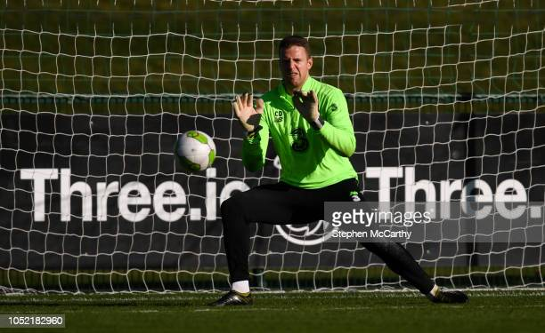 Dublin Ireland 15 October 2018 Colin Doyle during a Republic of Ireland training session at the FAI National Training Centre in Abbotstown Dublin