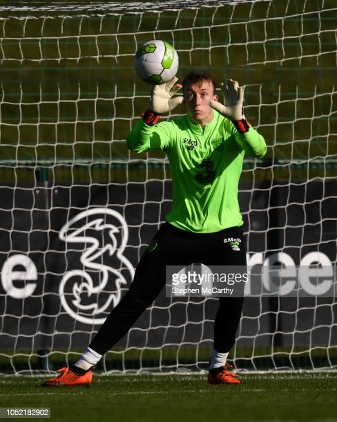 Dublin Ireland 15 October 2018 Sean McDermott during a Republic of Ireland training session at the FAI National Training Centre in Abbotstown Dublin