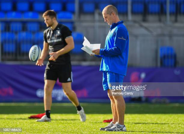 Dublin Ireland 15 October 2018 Senior coach Stuart Lancaster during Leinster Rugby squad training at Energia Park in Donnybrook Dublin