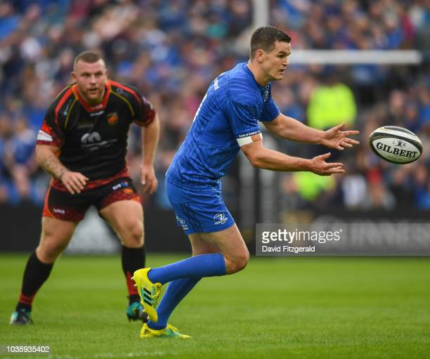 Dublin Ireland 15 September 2018 Jonathan Sexton of Leinster during the Guinness PRO14 Round 3 match between Leinster and Dragons at the RDS Arena in...