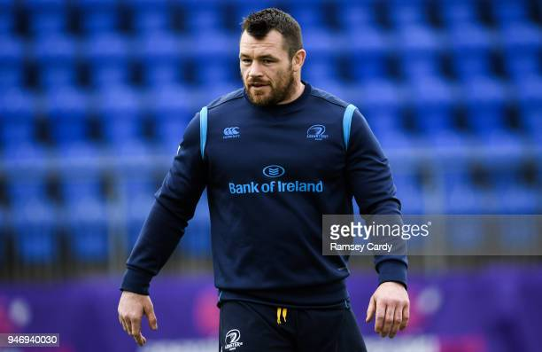 Dublin Ireland 16 April 2018 Cian Healy during Leinster Rugby squad training at Energia Park in Dublin