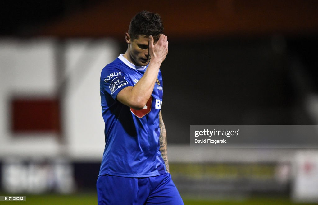 Dublin , Ireland - 16 April 2018; Gavin Holohan of Waterford makes his way off the pitch after receiving a red card during the SSE Airtricity League Premier Division match between St Patrick's Athletic and Waterford at Richmond Park in Dublin.