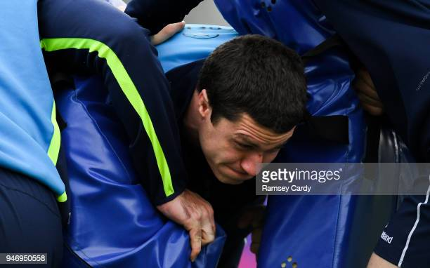 Dublin Ireland 16 April 2018 Ian Nagle during Leinster Rugby squad training at Energia Park in Dublin