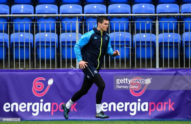 Dublin Ireland 16 April 2018 Jonathan Sexton during Leinster Rugby squad training at Energia Park in Dublin