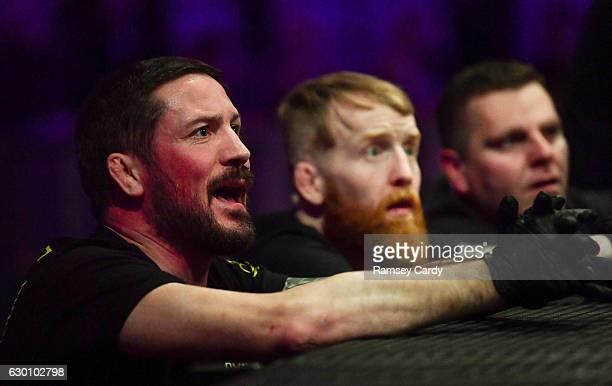 Dublin , Ireland - 16 December 2016; Coach John Kavanagh during BAMMA 27 in the 3 Arena in Dublin.