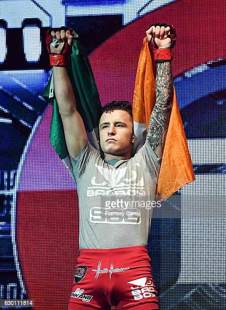 Dublin , Ireland - 16 December 2016; James Gallagher ahead of his bout at Bellator 169 in the 3 Arena in Dublin.