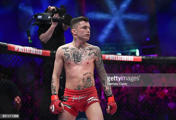 Dublin , Ireland - 16 December 2016; James Gallagher ahead of his featherweight bout at Bellator169 in the 3 Arena in Dublin.