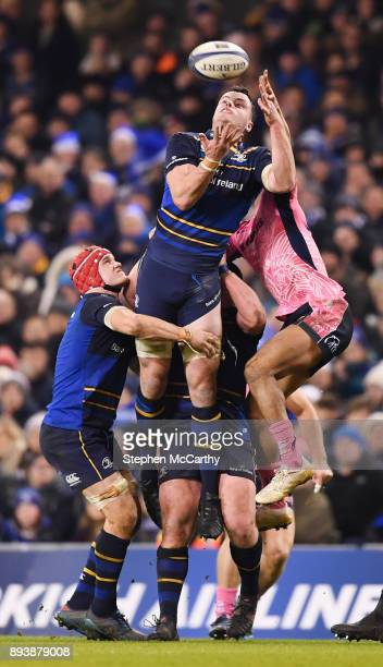 Dublin Ireland 16 December 2017 James Ryan of Leinster in action against Olly Woodburn of Exeter Chiefs during the European Rugby Champions Cup Pool...