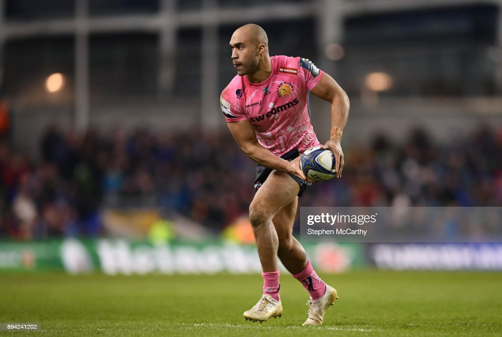 Dublin , Ireland - 16 December 2017; Olly Woodburn of Exeter Chiefs during the European Rugby Champions Cup Pool 3 Round 4 match between Leinster and Exeter Chiefs at the Aviva Stadium in Dublin.
