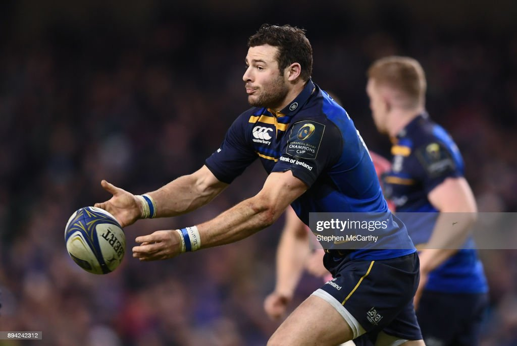 Dublin , Ireland - 16 December 2017; Robbie Henshaw of Leinster during the European Rugby Champions Cup Pool 3 Round 4 match between Leinster and Exeter Chiefs at the Aviva Stadium in Dublin.