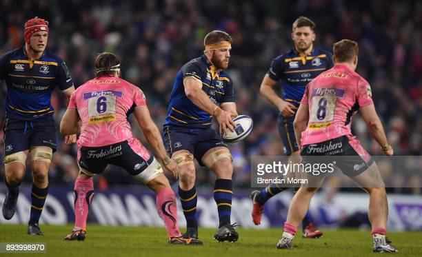Dublin Ireland 16 December 2017 Sean O'Brien of Leinster in action against Exeter Chiefs during the European Rugby Champions Cup Pool 3 Round 4 match...