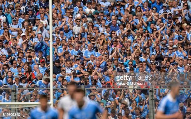 Dublin Ireland 16 July 2017 Dublin and Kildare fans applaud as they honour Bradley Lowery's memory during the Leinster GAA Football Senior...
