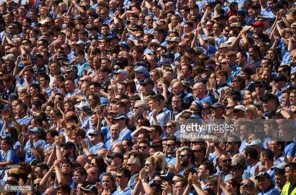 Dublin Ireland 16 July 2017 Dublin and Kildare fans on Hill 16 honour Bradley Lowery's memory during the Leinster GAA Football Senior Championship...