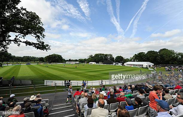 Dublin Ireland 16 June 2016 A general view of the Malahide Cricket Ground during the One Day International match between Ireland and Sri Lanka at...
