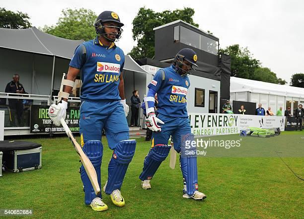 Dublin Ireland 16 June 2016 Sri Lanka opening batsmen Kusal Janith Perera left and Dilruwan Perera walk out onto the field of play ahead of the One...