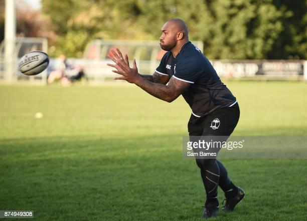 Dublin Ireland 16 November 2017 Nemani Nadolo during Fiji squad training at Blackrock College RFC in Stradbrook Road Dublin