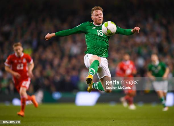 Dublin Ireland 16 October 2018 Aiden O'Brien of Republic of Ireland during the UEFA Nations League B group four match between Republic of Ireland and...