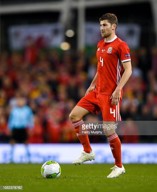 Dublin Ireland 16 October 2018 Ben Davies of Wales during the UEFA Nations League B group four match between Republic of Ireland and Wales at the...