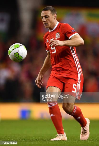 Dublin Ireland 16 October 2018 James Chester of Wales during the UEFA Nations League B group four match between Republic of Ireland and Wales at the...