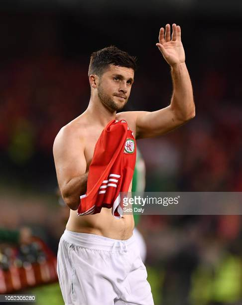 Dublin Ireland 16 October 2018 Shane Long of Republic of Ireland following the UEFA Nations League B group four match between Republic of Ireland and...