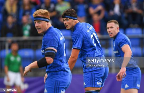 Dublin Ireland 17 August 2018 Max Deegan of Leinster during the Bank of Ireland Preseason Friendly match between Leinster and Newcastle Falcons at...